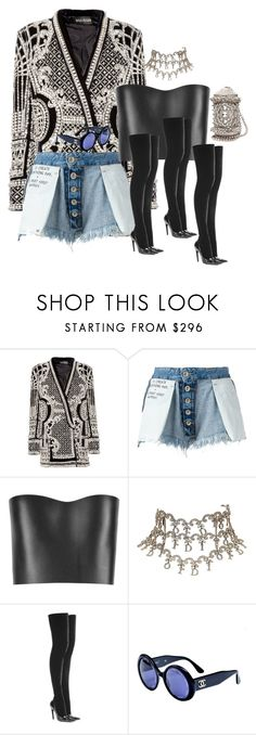 """""""2.2.17"""" by blackpowersunflower ❤ liked on Polyvore featuring Balmain, Unravel, Fendi, Christian Dior, Balenciaga and Chanel"""