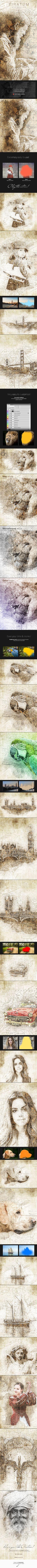 Piratum - Map Art Photoshop Action - Photo Effects Actions