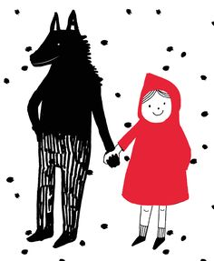 Tosia Kilis. And this is how I always wanted Little Red Riding Hood to end, because I have always seen the hunter as a very boring character. The wild wolf was so much more interesting:) and the old grandmother was so old anyway;))