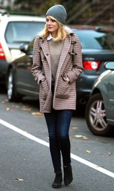 Emma Stone Out In New York, 2012. I love everything about this outfit!