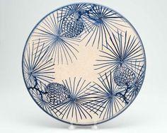 Blue Pinecones - American, 1960s