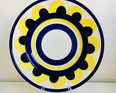 """Rare/ collectable/XXL size vintage Arabia Finland fruit tray named """"Paju"""" by Ulla Procopé / Anja Jaatinen-Winqvist, 1970s - Made in Finland"""