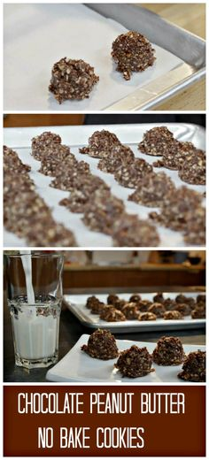 Best Chocolate Peanut-Butter No Bake Cookies. Such a simple and easy recipe to make with your kids! Maybe you even made this with your mom when you were a child? http://www.ifood.tv/recipe/best-chocolate-peanut-butter-no-bake-cookies