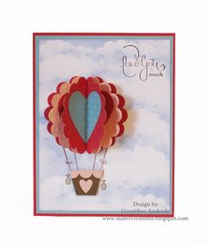 HOT AIR BALLOON VALENTINE'S CARD - bjl