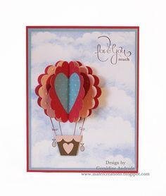 HOT AIR BALLOON VALENTINE'S CARD - bjl