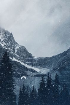 Mountains and snow