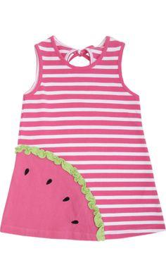 Florence Eiseman Striped Watermelon Dress