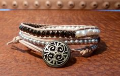 Pearl Layered Triple Wrap by Runwraps on Etsy