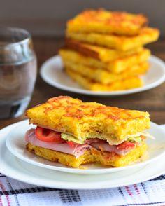 Arkansas Ham and Cheese Cornbread Sandwich.  So good! - The Spice Kit Recipes (www.thespicekitrecipes.com)