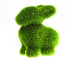 Moss Turf Grass Green Bunny Rabbit from Vinyl Cuts Jewellery. --I want this in my front yard haha!