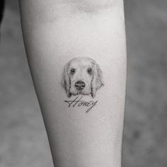 fotorealistische Tattoo Motive - kleines Hund Tattoo