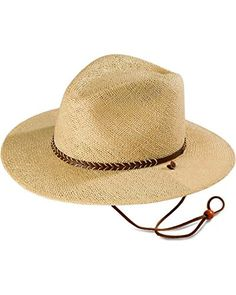 6ecdabc37c2 Stetson Men s Lakeland Uv Protection Straw Hat Natural S M Cooling Open  Weave Straw Pinch Front Hat UPF fabric rating (Ultraviolet Protection  Factor) Handy ...