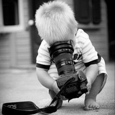 This will be my kid one day. She already knows how to use my camera phone @ 20 months