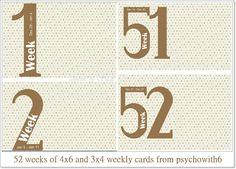 FREE 52 weeks of 4×6 and 3×4 weekly cards