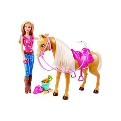 Poupée Barbie et son cheval Tawny à 33,00 € chez Toys R Us #barbie #noel #jouet