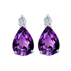 Amethyst earrings | Bling found on Polyvore featuring jewelry, earrings, amethyst jewelry and amethyst earrings