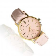 Elegant powder pink watch - perfect as a gift for a Mom who loves pastel colors. Very fashionable!