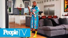 Go Inside Lamorne Morris' Grown-Up Fun House | PeopleTV Latest Celebrity Gossip, Celebrity News, Celebrity Style, Interior Design Videos, Nice Dresses, Dresses For Work, Kim And Kanye, Fun House, Los Angeles Homes