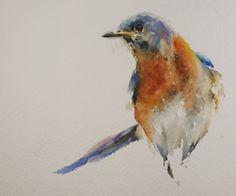 Small original daily watercolors of Sue ChurchGrant
