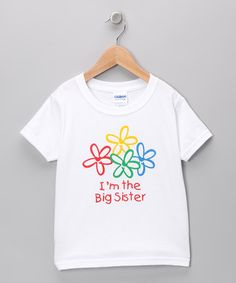Take a look at this Swinging on a Star White 'The Big Sister' Tee - Toddler & Girls by Brothers & Sisters Collection on #zulily today!