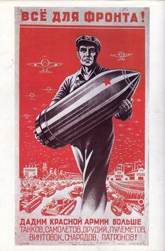 URSS - Cartel de guerra - Segunda guerra mundial - Second World War - WWII