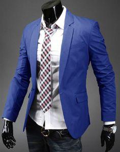 Men's Single Button Basic Blazer $24.95!
