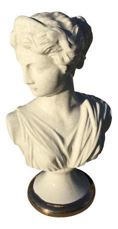 Neoclassical Bust of Diana, Greek Goddess on Chairish.com
