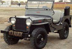 Willys : CJ-2A CJ-2A RARE 1947 Willys Jeep CJ-2A, Aluminum hard top, 4x4
