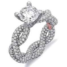 This unique engagement ring designed by Demarco is completely covered in diamonds. Now that's what I call the 'bling factor!' Shop for Demarco Engagement Rings Most Expensive Engagement Ring, Expensive Wedding Rings, Princess Cut Engagement Rings, Engagement Ring Cuts, Engagement Jewelry, Designer Engagement Rings, Expensive Jewelry, Wedding Engagement, Beautiful Rings