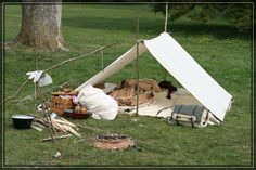 small camp set up