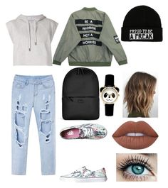 """""""Sunday Sunny Day"""" by maria-plx on Polyvore featuring adidas, Vans, Chicnova Fashion, Rains and Lime Crime"""