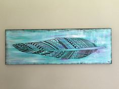 Add a boho chic touch to your favorite room with this acrylic on canvas painting. - 12 x 36