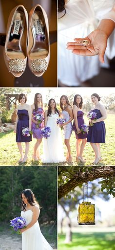 Country Wedding Ranch Shades of Purple