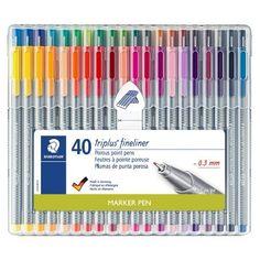 Fineliner Set, Cool School Supplies, College School Supplies, Office Supplies, Ergonomic Pen, Stationary Supplies, Muji Stationary, Art Supplies, Sharpies