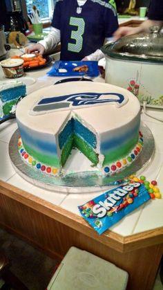 Seattle Seahawk cake.