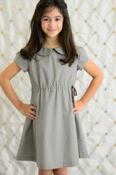 Olive Juice Kids: Grey Dot  Amelie Dress