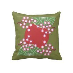 Japanese Style Flowers & Sun Pillows