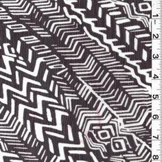 Black/White Crinkled Chiffon, Fashion Fabrics Club, $4.75/yd