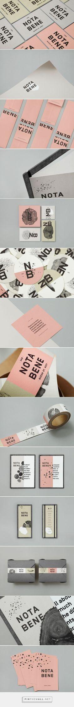 Nota Bene by Blok Design #graphicdesign #brandidentity #brandinginspiration