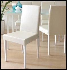 Белый Pu кожаное кресло Cadeira мадейра силла де Comedor современная мебель купить на AliExpress