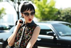 Strret Style - Semana de Moda de Nova York - Verão 2013 #fashion #cateyes #sunglasses