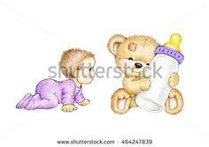 Baby and Teddy bear