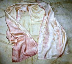 Ahimsa Peace Silk Reversible Wrap/Scarf Dusty Rose by SheGathers