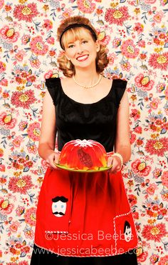 1950s Housewife with Grenade Killer Jello Art Photo Series. $20.00, via Etsy.
