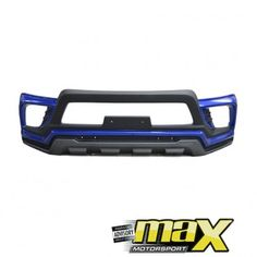 Toyota Hilux Revo (15-On) Painted Plastic Front Bumper Add On (Blue)