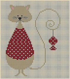 ru / Photo n ° 369 - Freebies - Syberia Cat Cross Stitches, Cross Stitch Baby, Cross Stitch Animals, Cross Stitch Charts, Cross Stitch Designs, Cross Stitching, Cross Stitch Embroidery, Embroidery Patterns, Cross Stitch Patterns