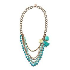 "JousJous Turquoise Punta del Este Necklace, Rope Length, 35"" Long (Jewelry)     Click image to see detail and more...."