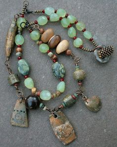 love the turquoise and stone  PEARL AND PEBBLE