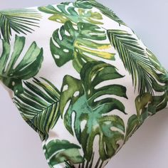Add a touch of tropical style in your home with this green monstera tropical palm designed jandmade pillow case cover. Available in various patterns & sizes. Palm Tree Leaves, Palm Trees, Plant Leaves, Green Cushions, Tropical Style, Decorative Pillow Cases, Décor Ideas, Handmade Home Decor, Pillow Covers