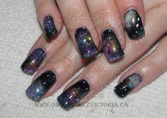 Galaxy nails, Shellac and uv gel paint